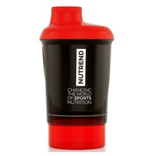 Shaker Nutrend with Dispenser 300ml - Black-Red