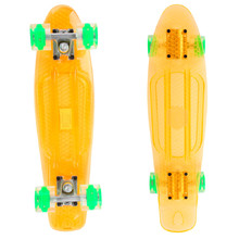 Pennyboard Maronad Retro Transparent W/ Light Up Wheels - Orange