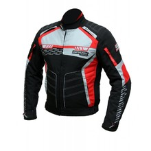 Men's Textile Motorcycle Jacket Spark Mizzen - Red-Black