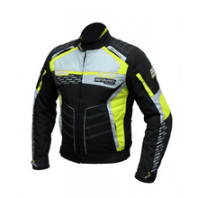 Men's Textile Motorcycle Jacket Spark Mizzen - Black-Fluo