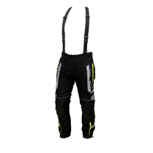 Men's Textile Motorcycle Pants Spark Mizzen - Black-Fluo