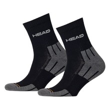 Socks Head Performance Short Crew UNISEX – 3 Pairs - Black-Grey