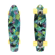 "Penny Board Fish Print 22"" - Pineapple-White-Summer Yellow"