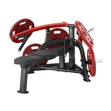 Chest Press Machine Steelflex PlateLoad Line PLBP - Black-Red
