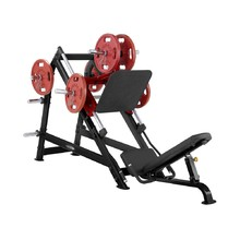 Leg Press Machine Steelflex PlateLoad Line PLDP - Black-Red