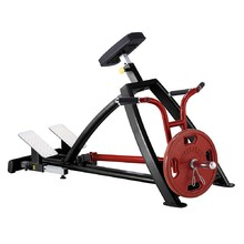 Standing Pull Down/Rowing Machine Steelflex Plateload Line PLSR - Black-Red