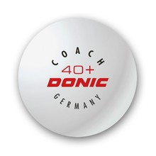 Table Tennis Balls Donic 40+ Coach White – 6 pieces