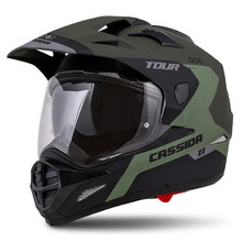 Motorcycle Helmet Cassida Tour 1.1 Spectre - Matt Army Green/Grey/Black