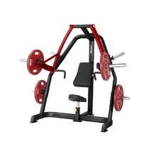 Decline Chest Press Machine Steelflex Plateload Line PSDP - Black-Red