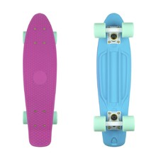 "Penny Board Fish Classic 2Colors 22"" - Pink Blue-White-Green"