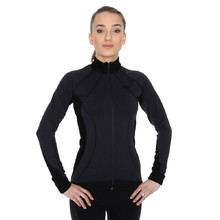 Ladies functional sweatshirt Brubeck MERINO - long zip