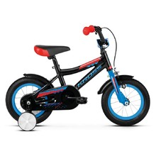 "Children's Bike Kross Racer 2.0 12"" – 2019 - Black / Blue / Red Glossy"
