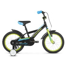 "Children's Bike Kross Racer 3.0 16"" – 2019 - Black / Lime / Blue Glossy"