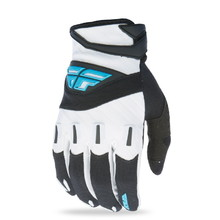 Motocross Gloves Fly Racing F-16 XVII - Black/White