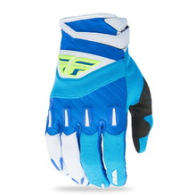 Motocross Gloves Fly Racing F-16 XVII - Blue/Fluo Yellow