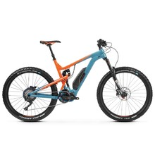 "Full-Suspension E-Bike Kross Soil Boost 2.0 SE 27.5"" – 2019 - Blue / Orange Glossy"