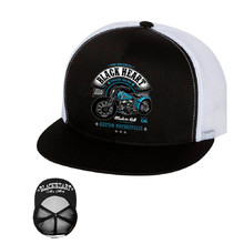Snapback Hat BLACK HEART Style and Power Trucker - White