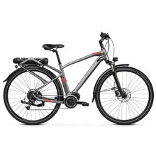 "Trekking E-Bike Kross Trans Hybrid 3.0 28"" – 2019 - Graphite / Red Matte"