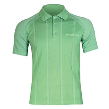 Men's functional T-shirt Brubeck PRESTIGE with collar - Green