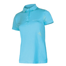 Women's functional T-shirt Brubeck PRESTIGE with collar - Blue