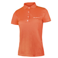 Women's functional T-shirt Brubeck PRESTIGE with collar - Orange