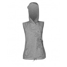 Ladies vest Newline Imotion Heather Hoodie - Heather Grey
