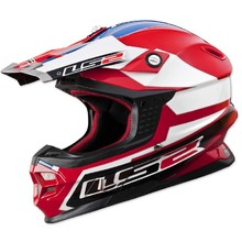 LS2 Tuareg Motorcycle Helmet - Red-Blue