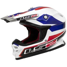 LS2 Tuareg Motorcycle Helmet - White/Red