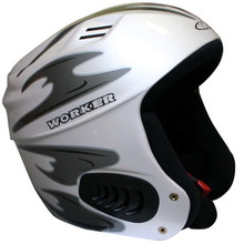 Vento Gloss Graphics Ski Helmet  WORKER - White Graphics
