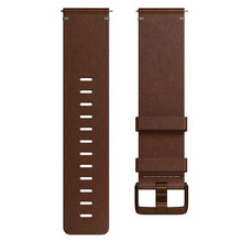 Replacement Smart Watch Band Fitbit Versa Leather Cognac