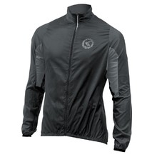 Unisex Cycling Jacket Kellys Wind Pack - Black-Grey