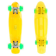 Pennyboard Maronad Retro Transparent W/ Light Up Wheels - Yellow