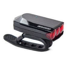 Super Bright 3LED Rear Light CRUSSIS Red – USB Charged