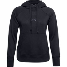 Women's Hoodie Under Armour Rival Fleece Metallic - Black