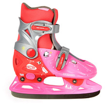 Kids ice skates  Junior WORKER Kelly - Pink-Red