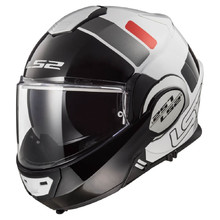Flip-Up Motorcycle Helmet LS2 FF399 Valiant Lumen / H-V Yellow - Prox White Black Red