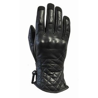 Women moto gloves Rebelhorn Opium Retro - Black