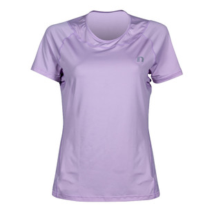 Lady's Imotion tee vent strech shirt - Purple