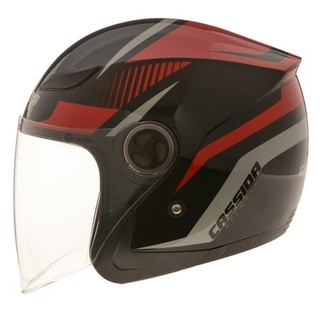 Motorcycle Helmet Cassida Reflex - Black-Red