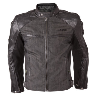 Men's moto jacket W-TEC Flipside - Matte Black