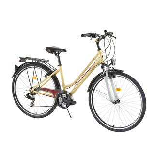 "Women trekking bike DHS Travel 2856 28"" - model 2015 - Yellow-Red"