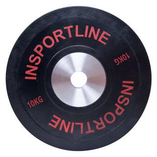 Rubber Weight Plate inSPORTline Bumper Plate 10 kg