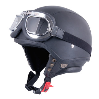 Motorcycle Helmet W-TEC AP-62G - leather