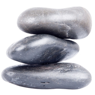 Basalt River Stone Set inSPORTline 10-12cm – 3 Pieces