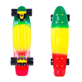 Pennyboard WORKER Sunbow 22ʺ - Green-Yellow-Red