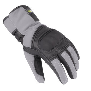Winter Leather/Textile Moto Gloves W-TEC NF-4004 - Grey-Black