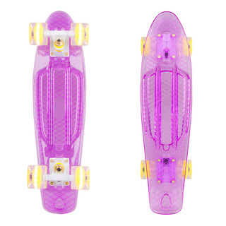 "Penny Board WORKER Transpy 300 22"" with Light Up Wheels"