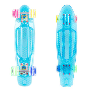 "Penny Board WORKER Transpy 500 22"" with Light Up Wheels"