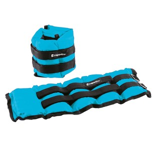 Adjustable Wrist / Ankle Weights inSPORTline BlueWeight 2x2 kg