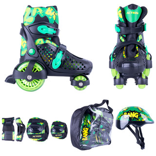 Children's Roller Skating Set Action Darly Boy - Green-Black
